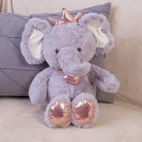 Мягкая игрушка Слон с короной DL204005618GR