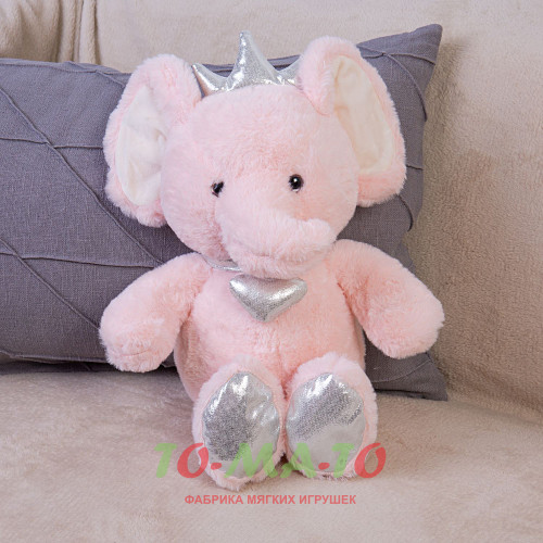 Мягкая игрушка Слон с короной DL204005618P