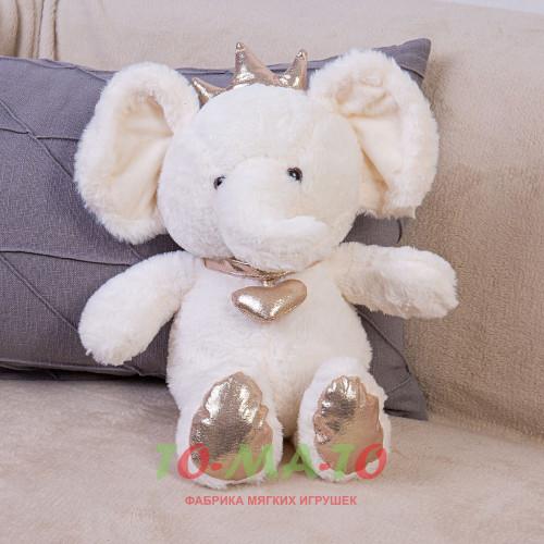 Мягкая игрушка Слоник с короной DL204005618W
