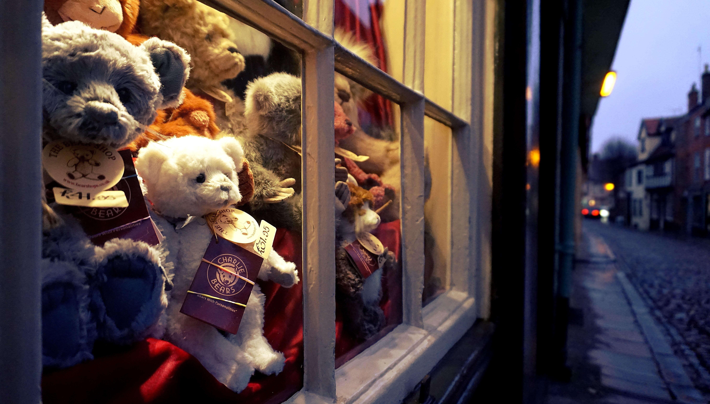 Витрина магазина мягких игрушек