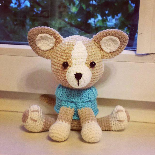 Вязанная мягкая игрушка щеночек своими руками - Томато